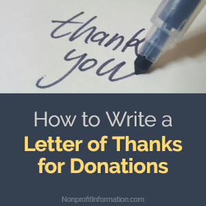 letter of thanks for donations