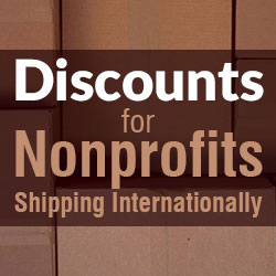 International Shipping Discounts for Nonprofits
