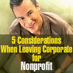 getting a nonprofit job