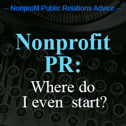 nonprofit PR advice