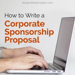 Tips Getting Corporate Sponsorship