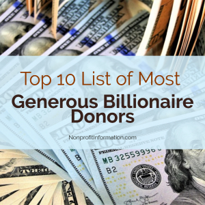 Major Charity Donors