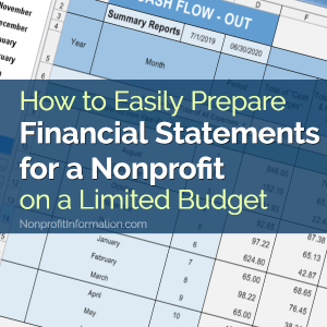 Preparing Financial Statements for a Nonprofit