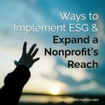 ESG Investing Nonprofits