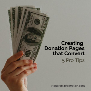 Online Donation Pages Tips