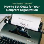 Goal Setting Nonprofit