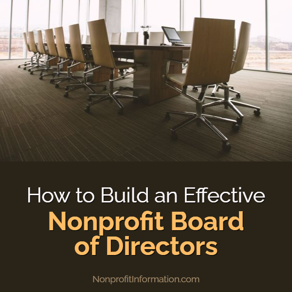 Build an Effective Nonprofit Board of Directors